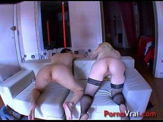 bisexuelles gouinent et baisent sur une grosse schlange !! französischer Amateur