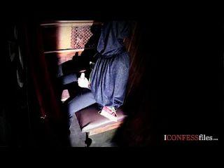 confessionfiles: britische Babe fickt in Beichte Stand