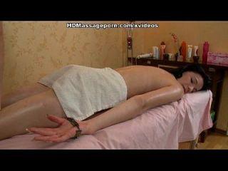 massage harten Kern und mündlichen Job von zügelloser Brünette