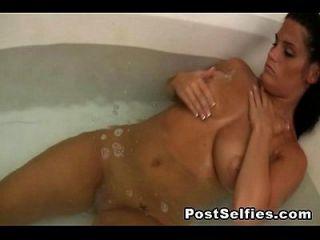 Spionage meine busty ex Freundin nackt im Bad