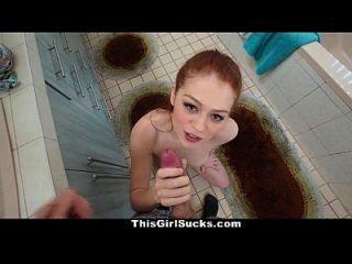 thisgirlsucks geil redhead gibt bj vor der Arbeit zu arbeiten