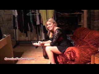 Casting mit frischen 18yo Blondie