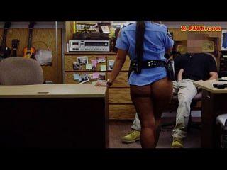 big boobs polizei offizier pflegt sie twat sie hämmerte hart