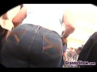 Großer schwarzer Arsch Rückenschüsse