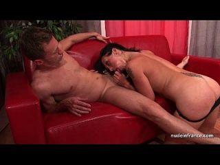 sublime busty Französisch milf tief anal gefickt und cum in den Mund für ihr Casting