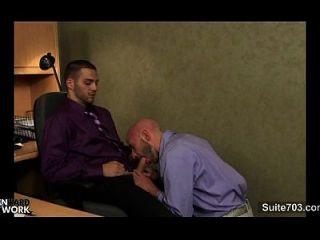 Lustige Schwule im Büro