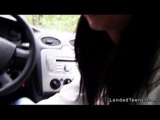 sexy Ärztin fucking im Auto und außerhalb Pov