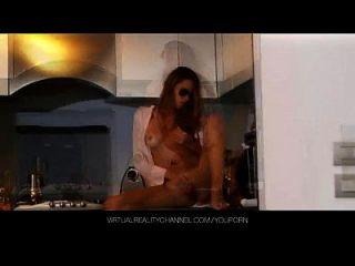 silvie delux mit vibrator in der küche