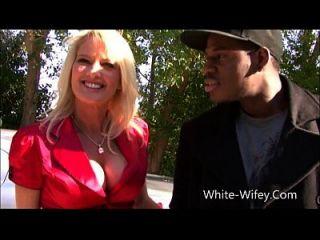sexy blonde milf jagd für die bbc