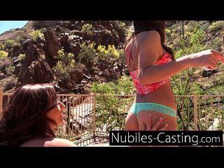 Amateur-Teenager-Casting für unschuldige Süsse