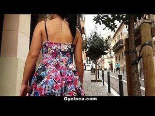 Oyeloca Spanische Schlampe bekommt Pussy und Arsch gefickt
