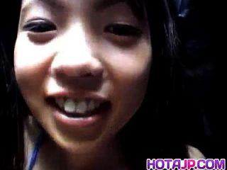 aya matsuki bekommt cum auf Schamhaar von gesaugten boner nach fuck