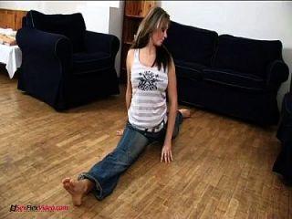 meine vollbusige flexible Freundin