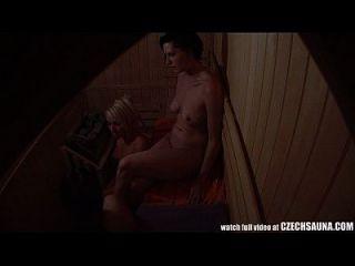 Voyeur Sauna Spionage cam gefangen Mädchen in der öffentlichen Sauna