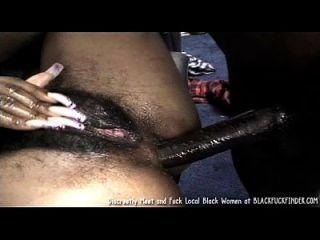 Perky Tit junge haarige Busch schwarze Mädchen liebt eine harte anal fuck von massiven Schwanz