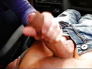 bonne branleuse! hanjob Blowjob im Auto von Opuntia
