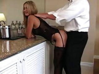 Amateur blonde rio große Blasen und Sperma schlucken