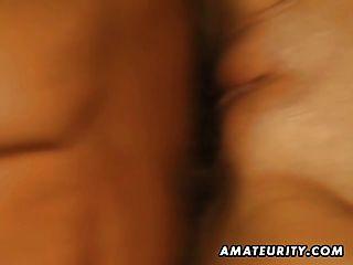 Skinny Amateur Teen gf saugt und fickt mit Gesichts