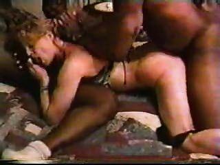 blonde weiße Frau mit schwarzen Männern - hausgemachte interracial cuckold