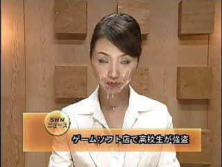 asiatische Nachrichtensprecher bukkake 1