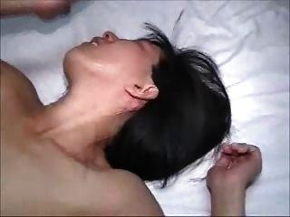 heiße Frau bekommt ein Creampie Mann bekommt schlampig Sekunden
