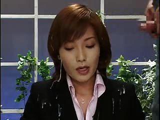 asiatische Nachrichtensprecher bukkake 2