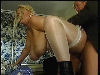 big Tit-Fick & abspritzen natürliche Brüste