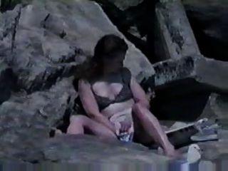 Masturbieren am Strand gefangen