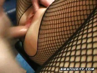 Amateur MILF hausgemachte anal mit Creampie
