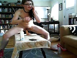 schreien anal masturbieren Spielzeug und Webcam weinen
