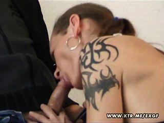 Amateur Paar mit abspritzen in den Mund ficken