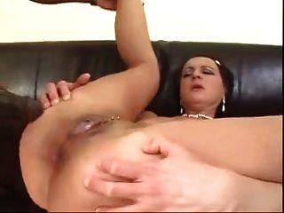 meine Schlampe reife Mutter gefickt in den Arsch von großen schwarzen Schwanz