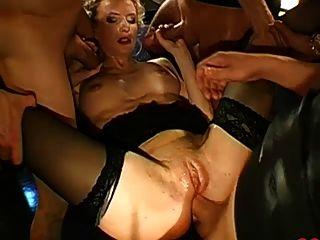Deutsch Pussy Bukkake & anal gangbang