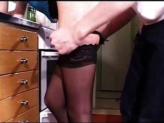 junge Blondine in der Küche gefickt - csm