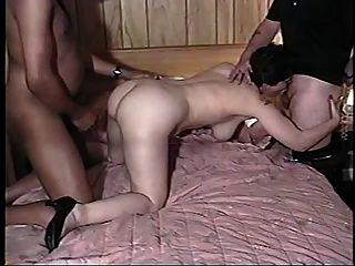 Frau, Mann und großen schwarzen Schwanz