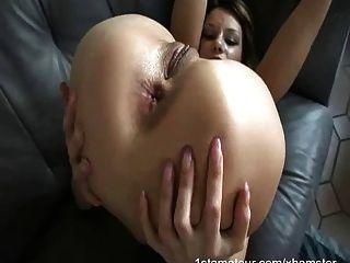 Arsch gefickt Babe hart schreien