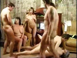 russische Familie eine Orgie mit