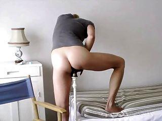schöne blonde Bettpfosten Einfügung