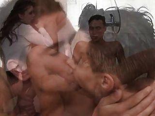 bisexuell Dusche party 1