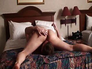 Gesicht Orgasmus im Bett Reiten