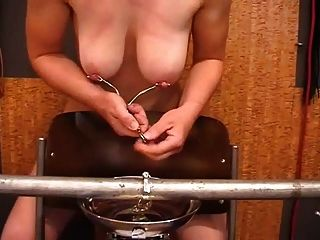 Amateur Slave hängen Objekte