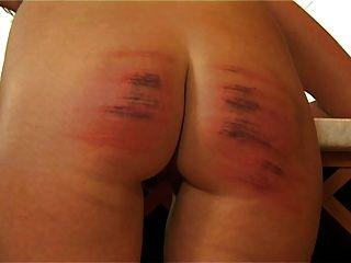 HC8 caned Frau weinen hart caning