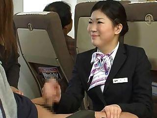 japanisch Stewardess handjob - zensiert
