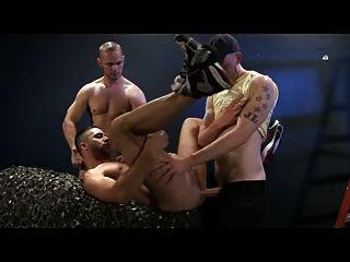 drei Homosexuell heißen Bareback-Action