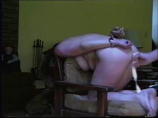 Schlampe Frau gebunden und facialed