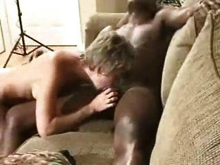 geile Frau und schwarzen Mann gehen wild