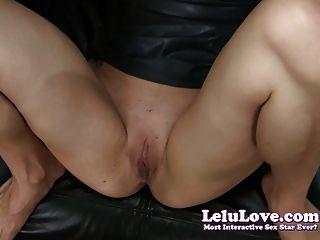 Lelu Liebe-schwarze Latexkleid ficken