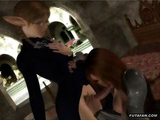 she-Jungen Elf wird von einer älteren Frau verführt