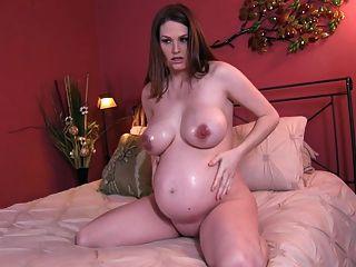 schwanger große Titten und Öl joi