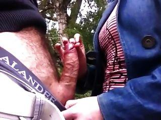 berühren dick im Park